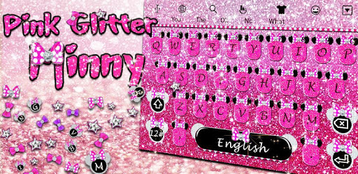 Pink Glitter Minny Keyboard Theme pc screenshot
