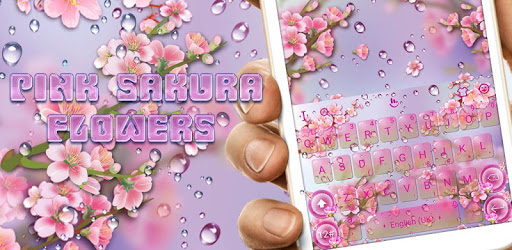 Pink Sakura Flower Keyboard Theme pc screenshot