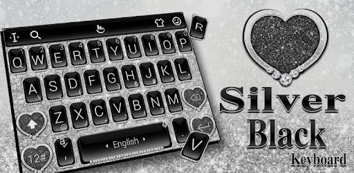 Black Silver Glitter Keyboard Theme pc screenshot
