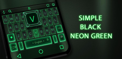 Simple Neon Green Keyboard Theme pc screenshot