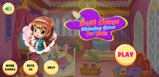 Doll House Cleaning Game for girls pc screenshot