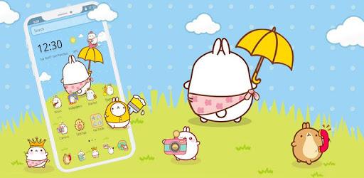 Cute Rabbit Cartoon Theme pc screenshot