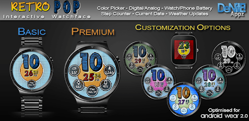 Retro Pop HD Watch Face Widget & Live Wallpaper pc screenshot