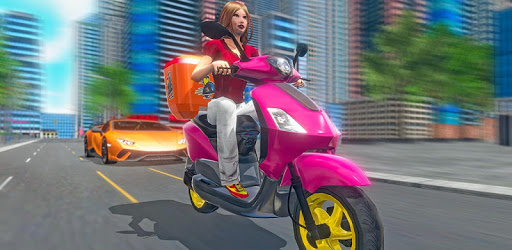 Moto Bike Pizza Delivery 2019 – Girl Food Game pc screenshot