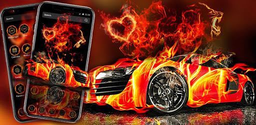 Flaming Car Sports Launcher Theme Live Wallpapers For Pc Free