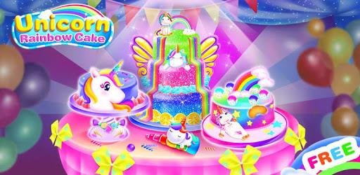Unicorn Food-Children Rainbow Cake Bakery pc screenshot