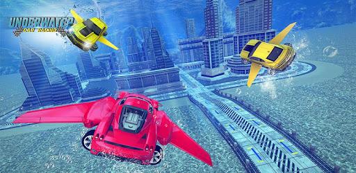 Underwater Stunts Car Flying Race pc screenshot