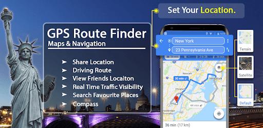 GPS Route Finder App: Directions, Navigation Maps pc screenshot