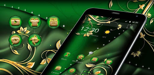 Green Gold Luxury Business Theme pc screenshot