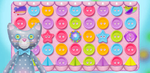 Button Cat: match 3 cute cat puzzle games pc screenshot