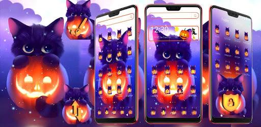 Dark Halloween Cat Theme pc screenshot