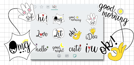 Cute Word Doodle Emoji Stickers pc screenshot