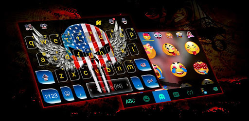 American Skull Mask Keyboard Theme pc screenshot
