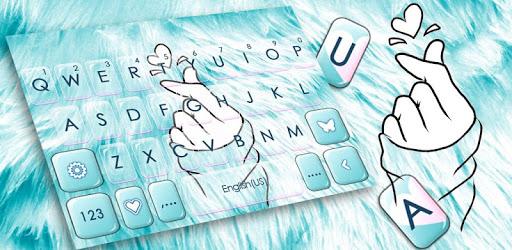 Blue Love Heart Keyboard Theme pc screenshot