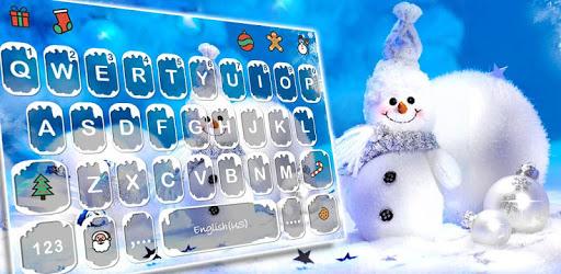 Blue Christmas1 Keyboard Theme pc screenshot