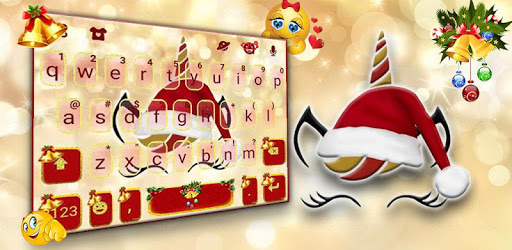 Christmas Unicorn Keyboard Theme pc screenshot