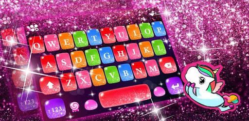 Colorful Glitter Keyboard Theme pc screenshot