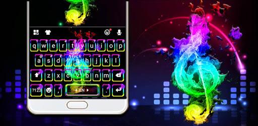 Colorful Music Night Keyboard Theme pc screenshot