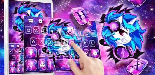 Cool Unicorn Monster Keyboard Theme pc screenshot