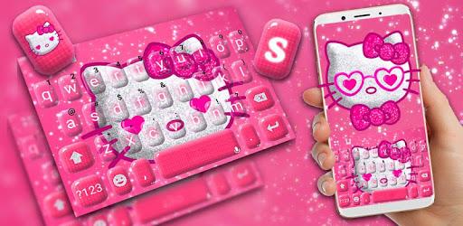 Hot Pink Kittie Hello Keyboard pc screenshot