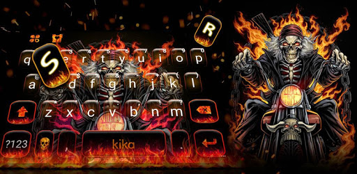 Fire Skull Rider Keyboard Theme pc screenshot