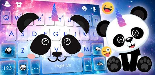 Galaxy Unicorn Panda Keyboard Theme pc screenshot