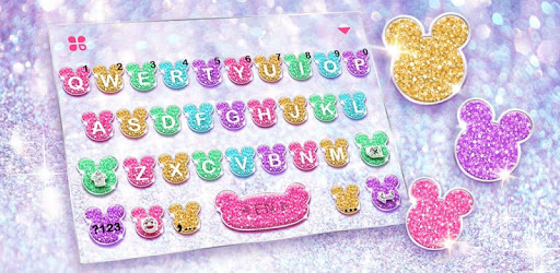 Girly Glitter Minny Keyboard Theme pc screenshot