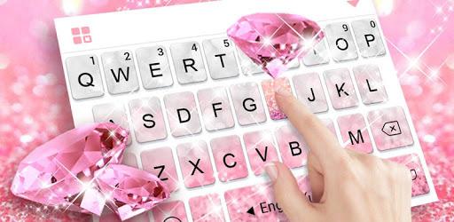 Glittering Pink Diamond Keyboard Theme pc screenshot