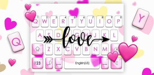 Love Hearts Arrow Keyboard Theme pc screenshot