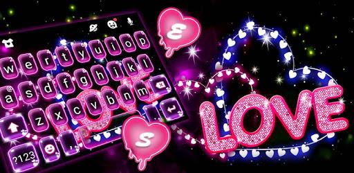 Neon Love Keyboard Theme pc screenshot