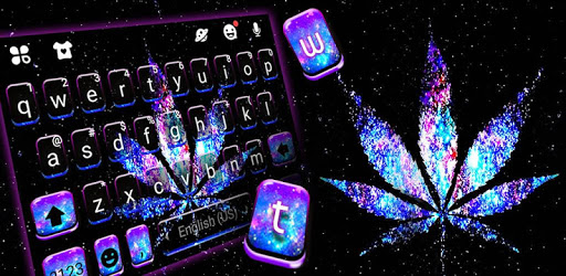Shiny Galaxy Weed Keyboard Theme pc screenshot