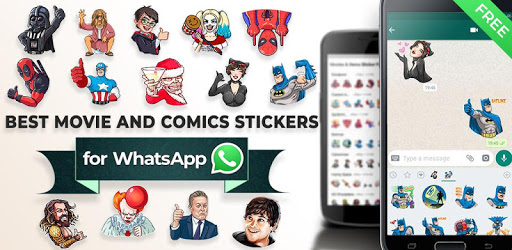 Movie and Comics Stickers - WAStickerApps pc screenshot