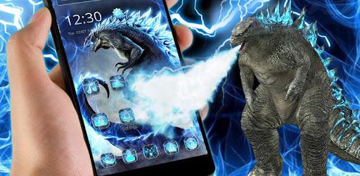 Neon Godzilla Thunder Theme pc screenshot