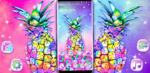 Colorful Galaxy Glitter Pineapple Theme for PC - Free ...
