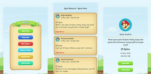 Spins Rewards - Updated Posts pc screenshot