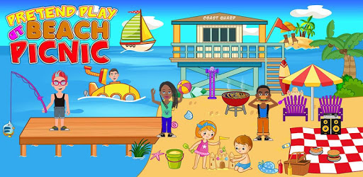 Pretend Play Beach Life: Fun Town picnic Games pc screenshot