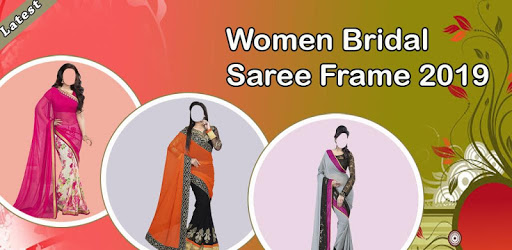 Women Bridal Saree Frame pc screenshot
