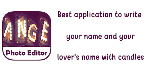 Photo Editor : Write your name with a candles pc screenshot