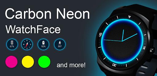 Carbon Neon Watch Face pc screenshot