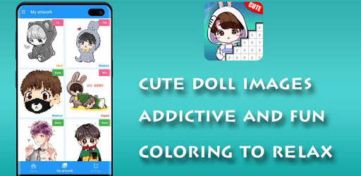 Doll Pixel Art - Color by Number pc screenshot