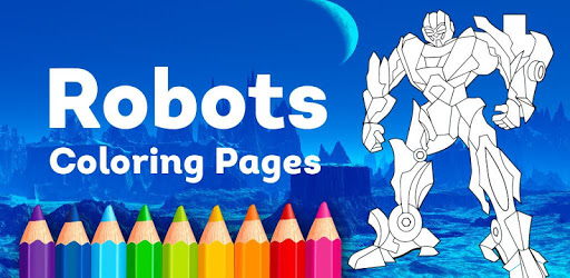 Robots Coloring Pages with Animated Effects pc screenshot