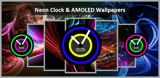Neon night clock: Smart AMOLED wallpapers pc screenshot