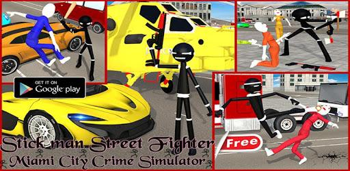 Stickman Street Fighter:Miami City Crime Simulator pc screenshot
