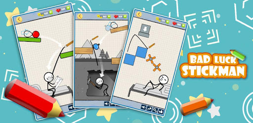 Bad Luck Stickman- Addictive draw line casual game pc screenshot