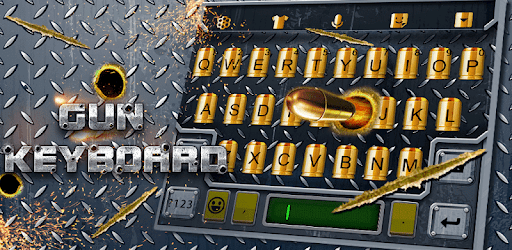 3D Cool Gun and Bullet Shooting Theme Keyboard pc screenshot