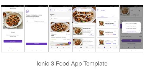 Ionic 3 Food App Template pc screenshot