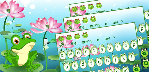 Cute Frog Big Eyes keyboard Theme pc screenshot