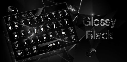 Cool Glossy Black Keyboard pc screenshot