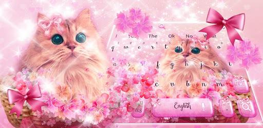 Cute Pink Kitty Love Keyboard Theme pc screenshot