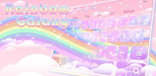 Glossy Galaxy Rainbow Keyboard Theme pc screenshot